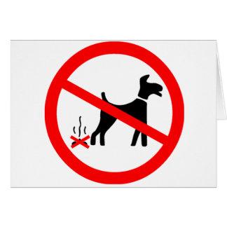 No Dog Fouling Symbol Greeting Card