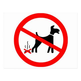 No Dog Fouling Symbol Postcard