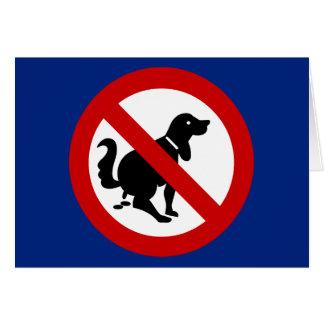 NO Dog Fouling ⚠ Thai Sign ⚠ Card