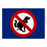 NO Dog Fouling ⚠ Thai Sign ⚠ Greeting Card