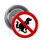 NO Dog Fouling ⚠ Thai Sign ⚠ Pins