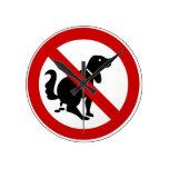 NO Dog Fouling ⚠ Thai Sign ⚠ Wall Clocks