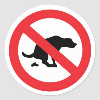'no dog poop' stickers