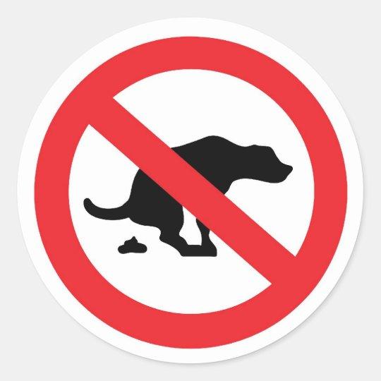 'no dog poop' stickers