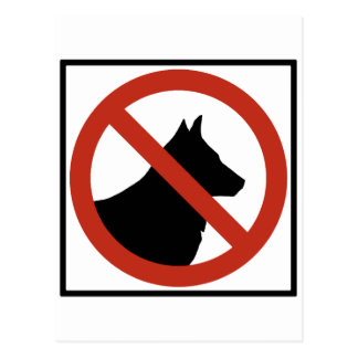No Dogs Allowed / No Pets Highway Sign Postcard