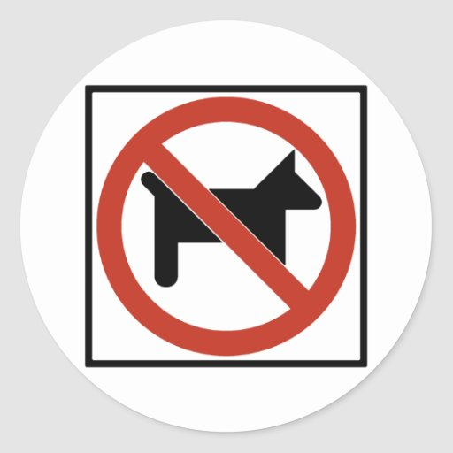 No Dogs Allowed / No Pets Highway Sign Sticker