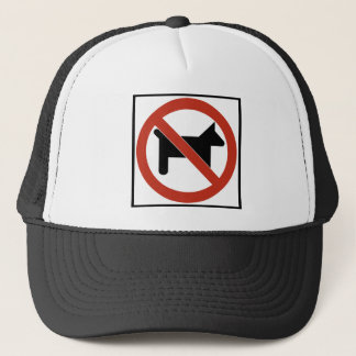 No Dogs Allowed / No Pets Highway Sign Trucker Hat