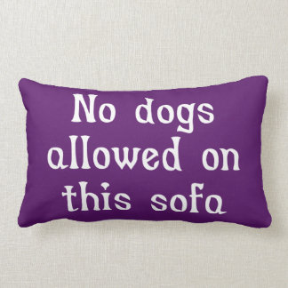 No Dogs Allowed on this Sofa Lumbar Pillow