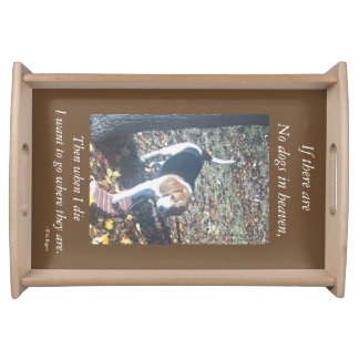 NO DOGS IN HEAVEN WILL ROGERS SERVING TRAY