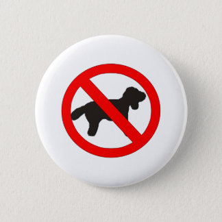 No Dogs Sign 6 Cm Round Badge
