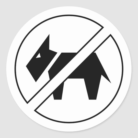 No Dogs Stickers
