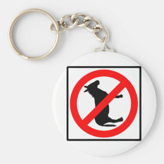 No Donkeys Highway Sign Key Ring