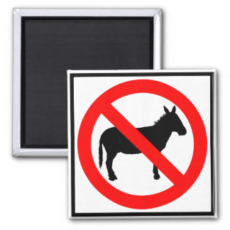No Donkeys Highway Sign Magnet