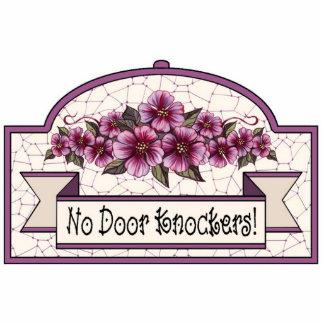 """""""No Door Knockers"""" - Decorative Sign - 10 Standing Photo Sculpture"""