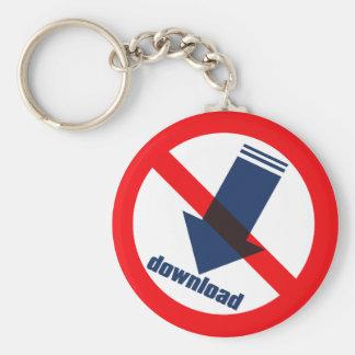 NO_download Basic Round Button Key Ring
