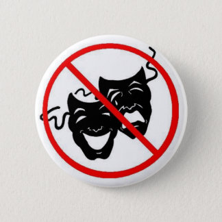 No Drama 6 Cm Round Badge