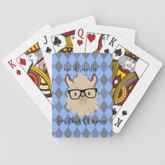 no drama for this llama playing cards