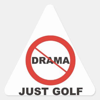 No Drama Just Golf Triangle Sticker