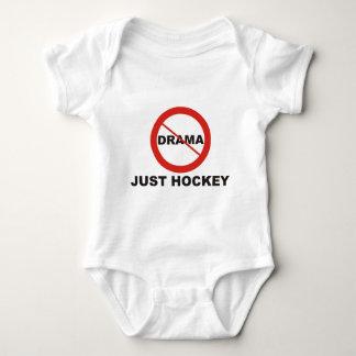 No Drama Just Hockey Baby Bodysuit