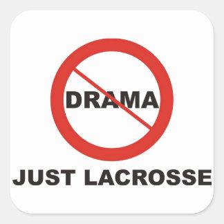 No Drama Just Lacrosse Square Sticker
