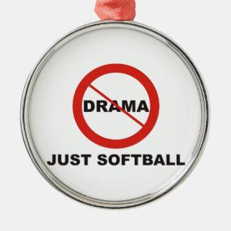 No Drama Just Softball Christmas Ornament