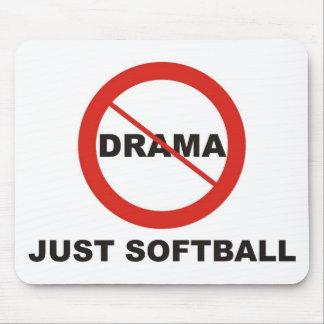 No Drama Just Softball Mouse Pads