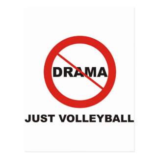 No Drama Just Volleyball Postcard