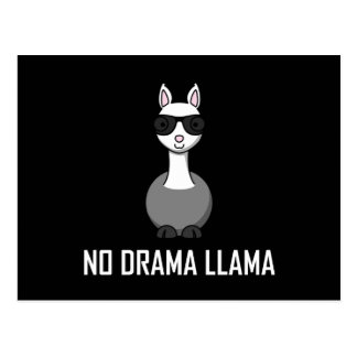 No Drama Llama Sunglasses Postcard