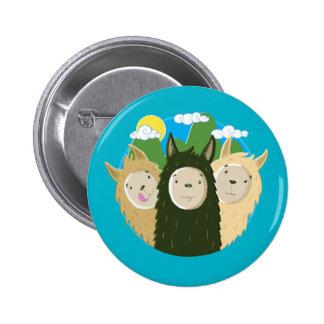 No Drama Llamas Brothers 6 Cm Round Badge