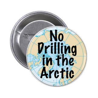 No Drilling in the Arctic 6 Cm Round Badge