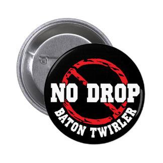 No Drop Baton Twirler 6 Cm Round Badge