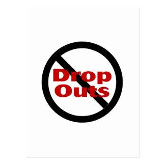 No Dropouts Postcard