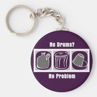 No Drums No Problem Key Ring