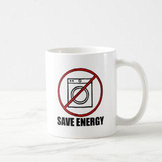 No Dryers SAVE ENERGY Basic White Mug