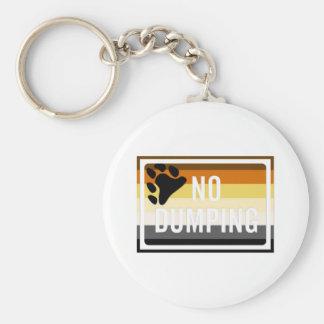 """No Dumping"" GLBT Bear Pride Basic Round Button Key Ring"