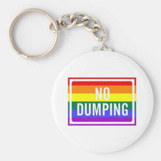 """""""No Dumping"""" GLBT Pride Key Chains"""