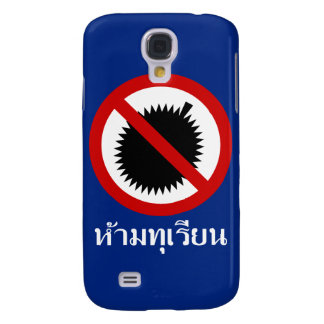 NO Durian ⚠ Thai Language Script Sign iPhone Skin Galaxy S4 Case