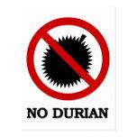 NO Durian Tropical Fruit Sign