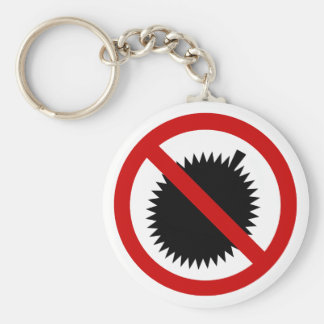 NO Durian Tropical Fruit ⚠ Thai Sign ⚠ Key Ring
