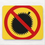 NO Durian Tropical Fruit ⚠ Thai Sign ⚠ Mouse Pad