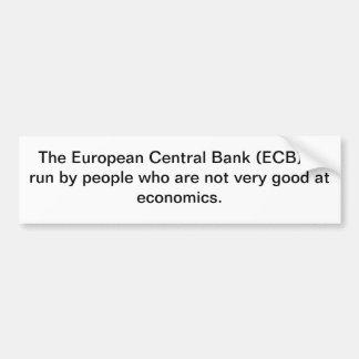 NO ECB! BUMPER STICKER