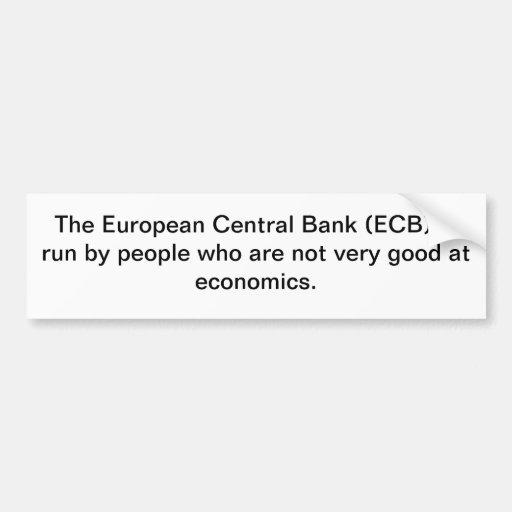 NO ECB! BUMPER STICKERS