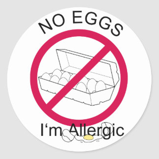 No Eggs Classic Round Sticker