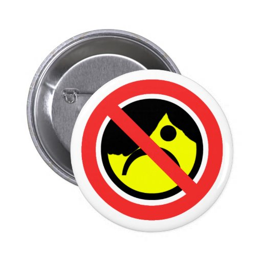 No Emos 6 Cm Round Badge