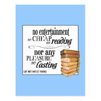 No Entertainment so Cheap as Reading Postcard