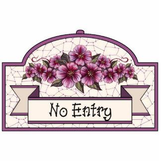 """""""No Entry"""" - Decorative Sign - 11 Photo Sculpture Decoration"""