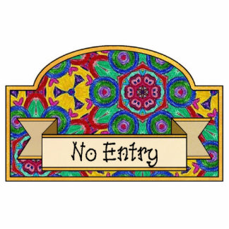 No Entry - Decorative Sign Photo Cut Outs