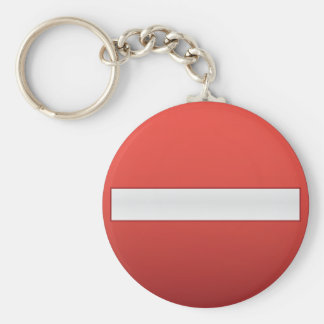 no entry road sign key chain