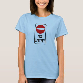 No Entry Road Sign Traffic Cartoon Graphic Design T-Shirt