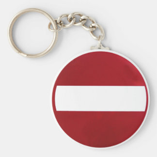 No Entry Sign Key Ring